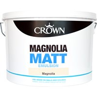 Crown  Matt Magnolia Paint - 10 Litre