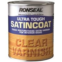 Ronseal  Ultra Tough Varnish Satin - 250ml