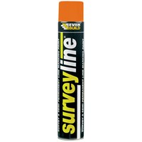 Everbuild  Surveyline Paint 700ml - Orange