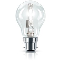 Philips EcoClassic B22 Halogen Light Bulb Blister Pack - 42W